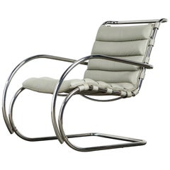 MR Lounge Armchair by Mies van der Rohe for Knoll International, Signed 1988