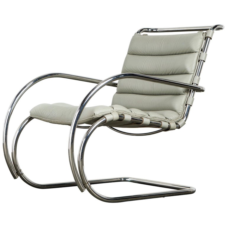 MR Lounge Armchair by Mies van der Rohe for Knoll International, Signed 1988 For Sale