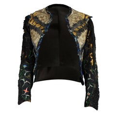 Mr Moses unique embroidered jacket with 1800s lace, and Victorian jet stones