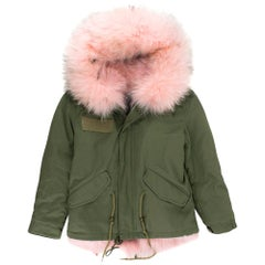 Mr & Mrs Italy Girl's Pink Alpaca Lined Parka KIDS SIZE 10+ YEARS