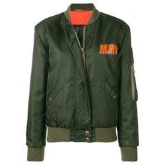 Mr & Mrs Italy Oversized Embroidered Shell Bomber Jacket