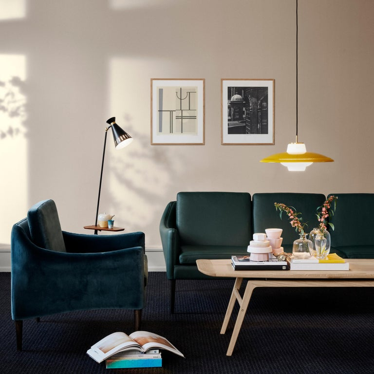 Mr. Olsen Lounge Chair with Walnut Legs, by Hans Olsen from Warm Nordic For Sale 2