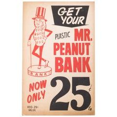 Mr. Peanut Bank Sign, circa 1950