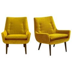 Mrs. Godfrey Lounge Chair in Lichen Velvet