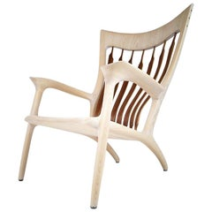 MS81 Lounge Chair Handcrafted and Designed by Morten Stenbaek