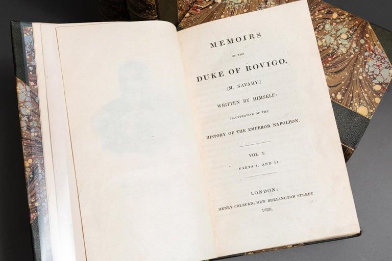 English M.Savary, Memoirs Of The Duke Rovigo For Sale