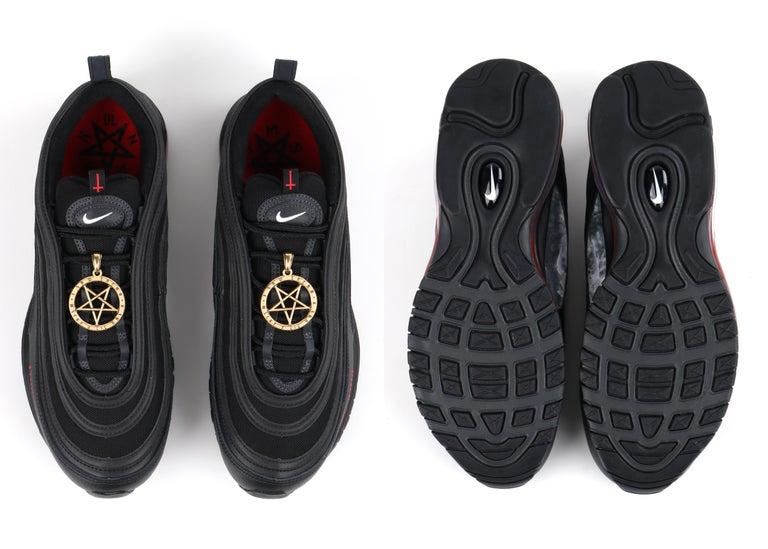 "MSCHF & Lil Nas X ""Satan"" Limited Edition Black Nike Air Max Sneakers 76/666 NIB For Sale 6"