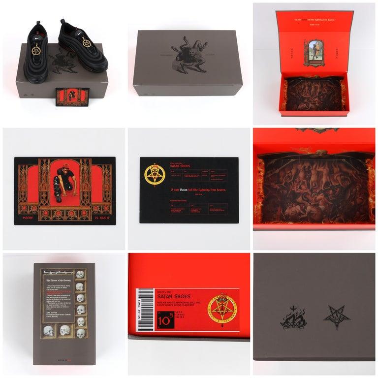 "MSCHF & Lil Nas X ""Satan"" Limited Edition Black Nike Air Max Sneakers 76/666 NIB For Sale 8"
