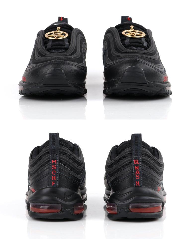 "MSCHF & Lil Nas X ""Satan"" Limited Edition Black Nike Air Max Sneakers 76/666 NIB For Sale 5"