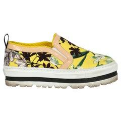 Msgm Woman Sneaker Multicolor, Yellow EU 36