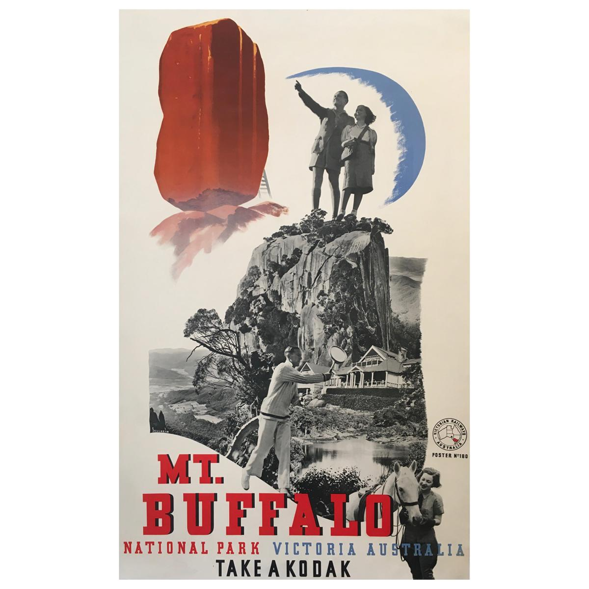 'Mt. Buffalo', Australia, 1939, Original Lithograph Poster by Gert Sellheim