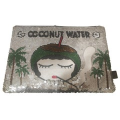 Mua Mua Coconut Water Sequins Zip Pochette