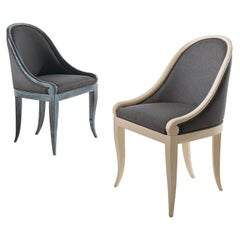 Muff Armchair with Rounded Back and Upholstered Seat