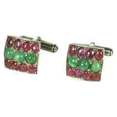 Mughal Emerald and Ruby Cufflinks