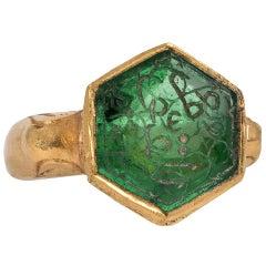 Mughal Emerald Hexagon Ring