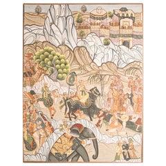 Mughal Miniature Painting of a Maharaja Royal Procession