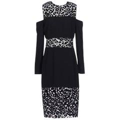 Mugler Cady Leopard-Print Velour Dress