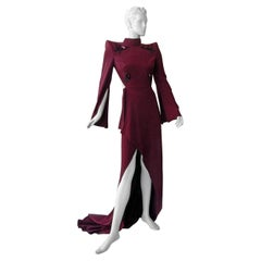 Mugler Entrance Maker Butterfly Structural Gown w/ Open Back