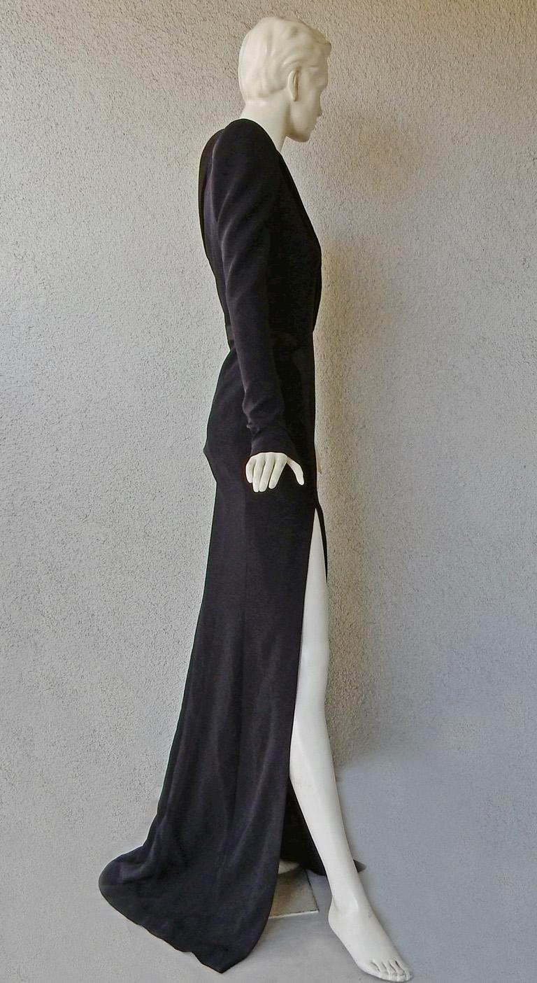 Women's Mugler Iconic Sleek & Chic Tux Dress Gown  MUST HAVE!    NWT! For Sale