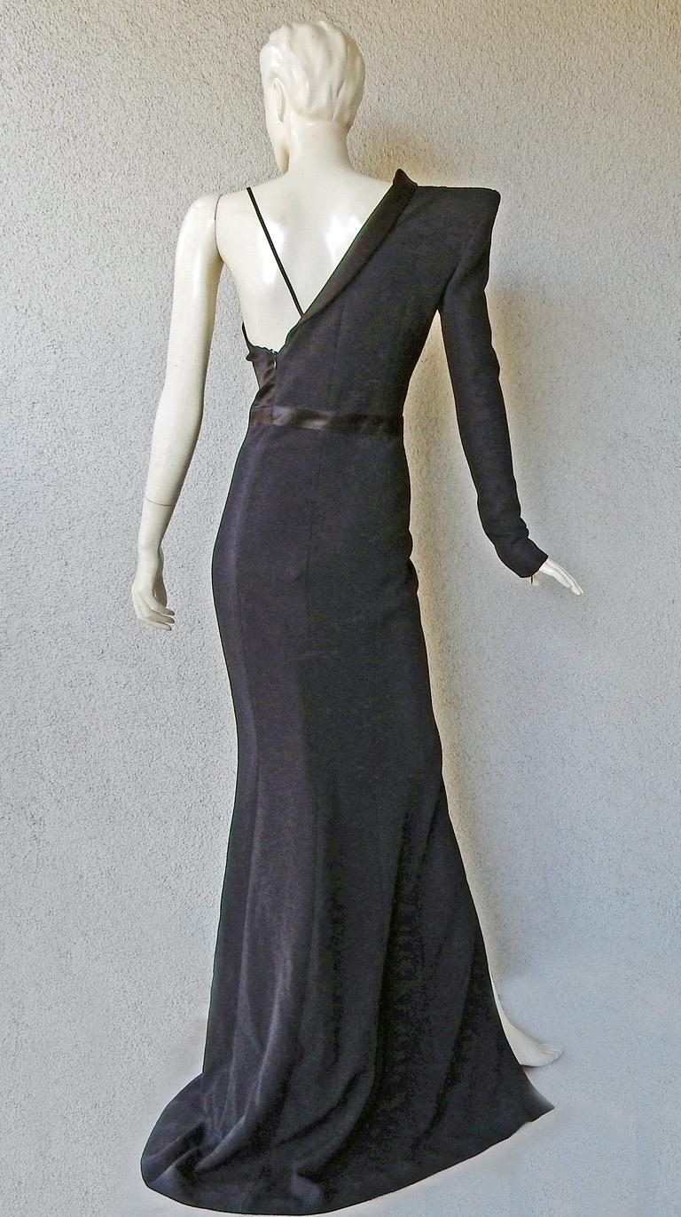 Mugler Iconic Sleek & Chic Tux Dress Gown  MUST HAVE!    NWT! For Sale 1