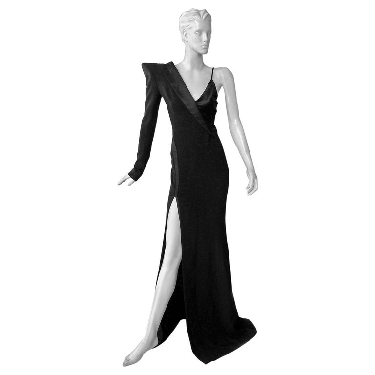 Mugler Iconic Sleek & Chic Tux Dress Gown  MUST HAVE!    NWT! For Sale