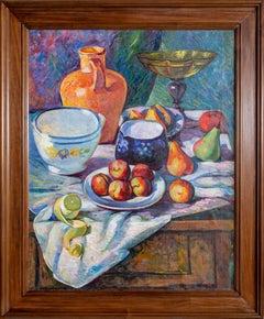 Morning Breakfast Fruits, Still Life Painting