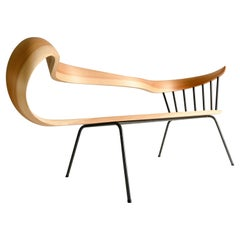Muji 2 Seater Chair Japanese Contemporary Style Bentwood Chair