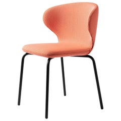 Mula Chair in Black Metal Leg Base with Upholstery Seat, by E-GGs