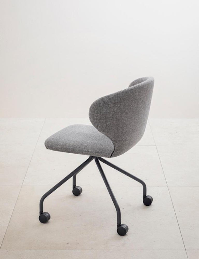 Contemporary Mula Chair in Stained Black Ash Base, Upholstery Seat, by E-GGs For Sale