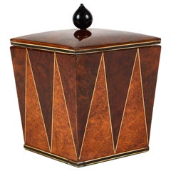 Mulberry and Walnut Tobacco Art Deco Jar from England, circa 1940