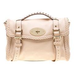 Mulberry Beige Leather Alexa Shoulder Bag