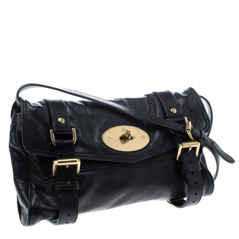 Women s Mulberry Black Leather Alexa Shoulder Bag For Sale bc446e3f1d232