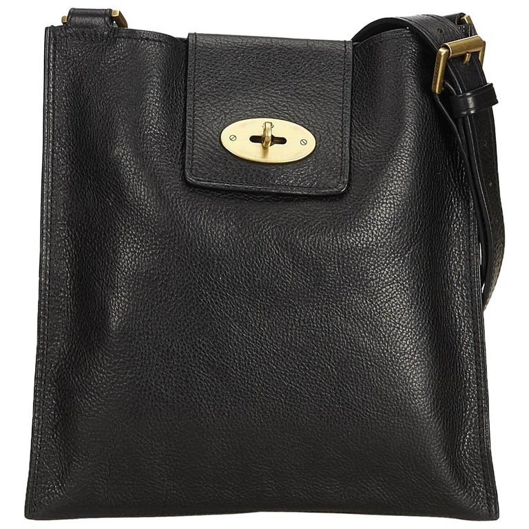 6f90b8a6bf Mulberry Black Leather Antony Messenger Bag For Sale. This crossbody ...