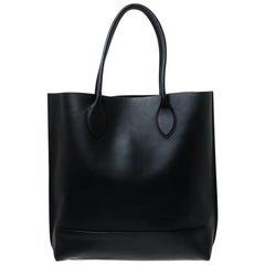 Mulberry Black Leather Blossom Shopper Tote