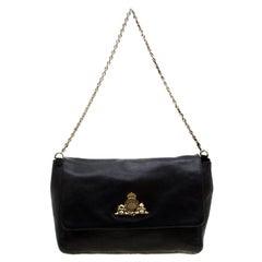 Mulberry Black Leather Large Margaret Shoulder Bag