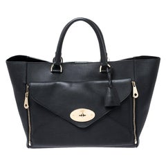 Mulberry Black Leather Large Willow Tote