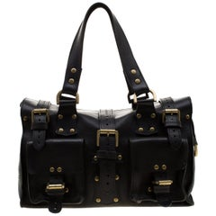 Mulberry Black Leather Roxanne Satchel
