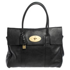 Mulberry Black Pebbled Leather Bayswater Satchel