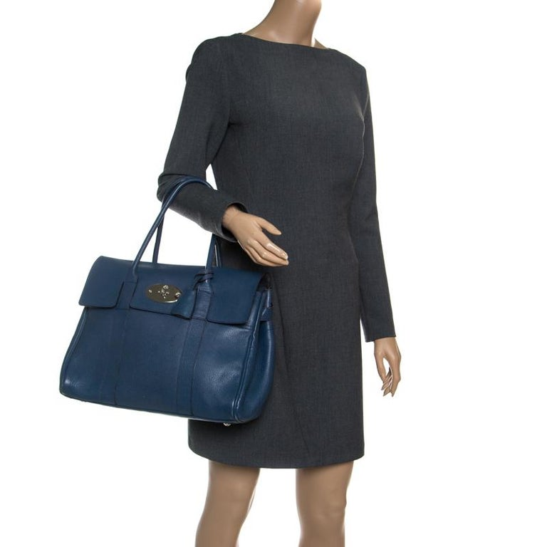 22b556733a Mulberry Blue Leather Bayswater Satchel For Sale at 1stdibs