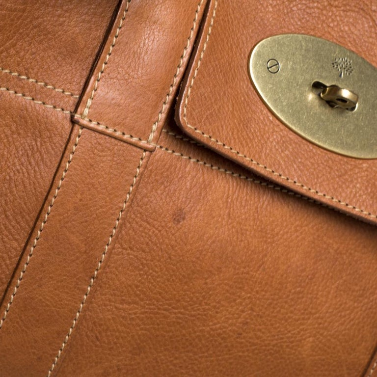 Mulberry Brown Leather Bayswater Satchel 6