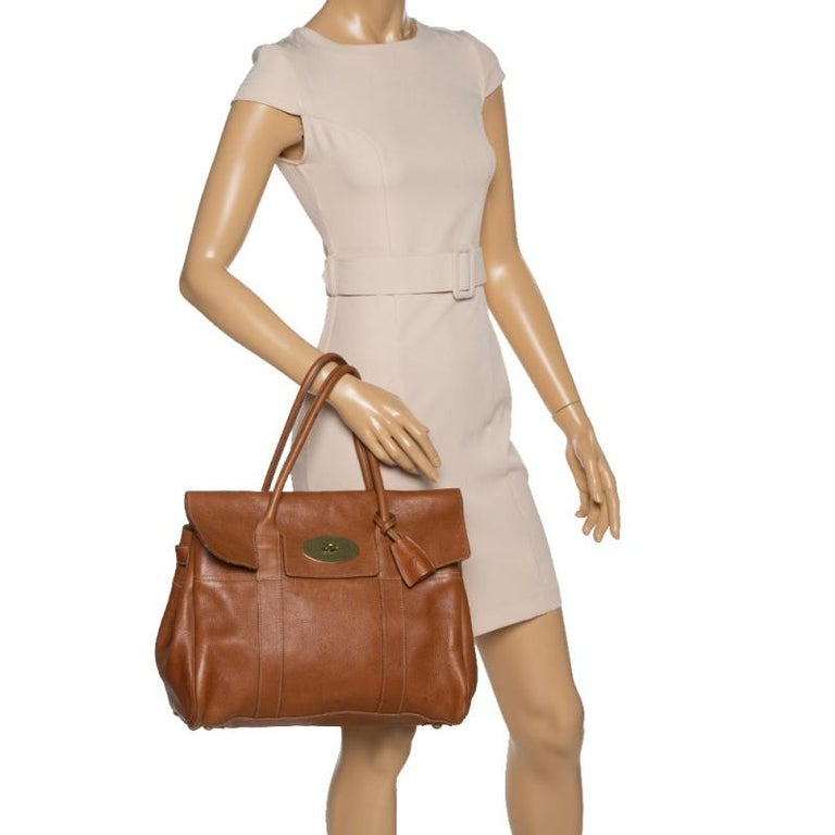 Mulberry Brown Leather Bayswater Satchel In Good Condition In Dubai, Al Qouz 2