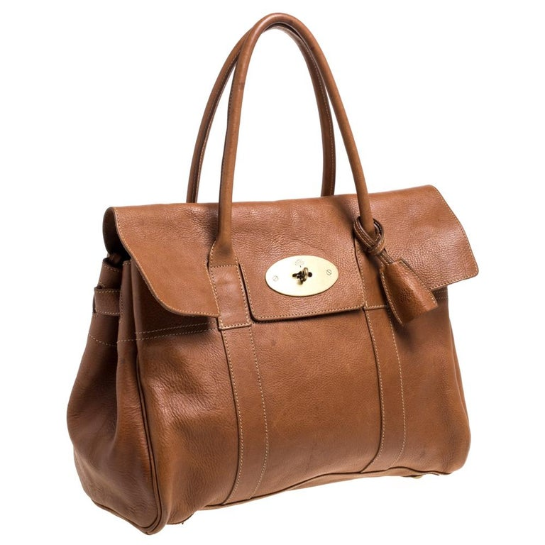 Women's Mulberry Brown Leather Bayswater Satchel