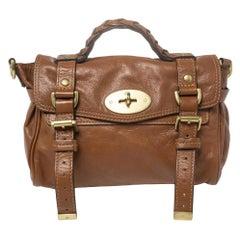 Mulberry Brown Leather Mini Alexa Crossbody Bag