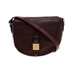 Mulberry Burgundy Leather Tessie Crossbody Bag