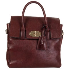 MULBERRY + CARA DELEVIGNE burgundy leather MINI Backpack Bag