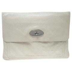Mulberry Cream Leather Clutch
