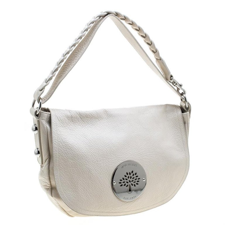 35a3aec8ee71 Mulberry Cream Leather Daria Hobo For Sale at 1stdibs
