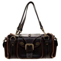 Mulberry Dark Brown Darwin Satchel