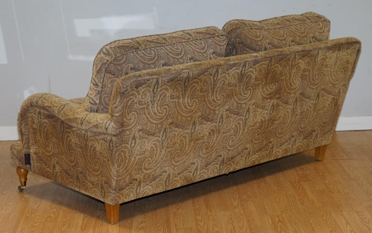 Mulberry Designer Made To Order Feather Filled Howard Manner Sofa For Sale 3