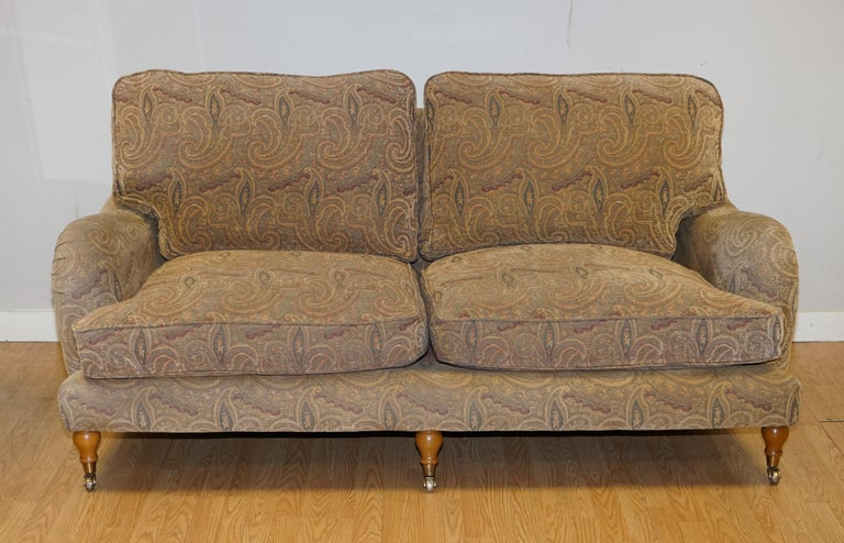 We are delighted to offer for sale this Stunning Rare Mulberry Home Designer Sofa.  We have researched Mulberry Home sofa's and we didn't come across many, they used to have a big range made for their showrooms a while ago. These are very unique